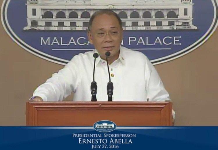 Ernesto Abella Press Briefing by Presidential Spokesperson Ernesto Abella 27 July