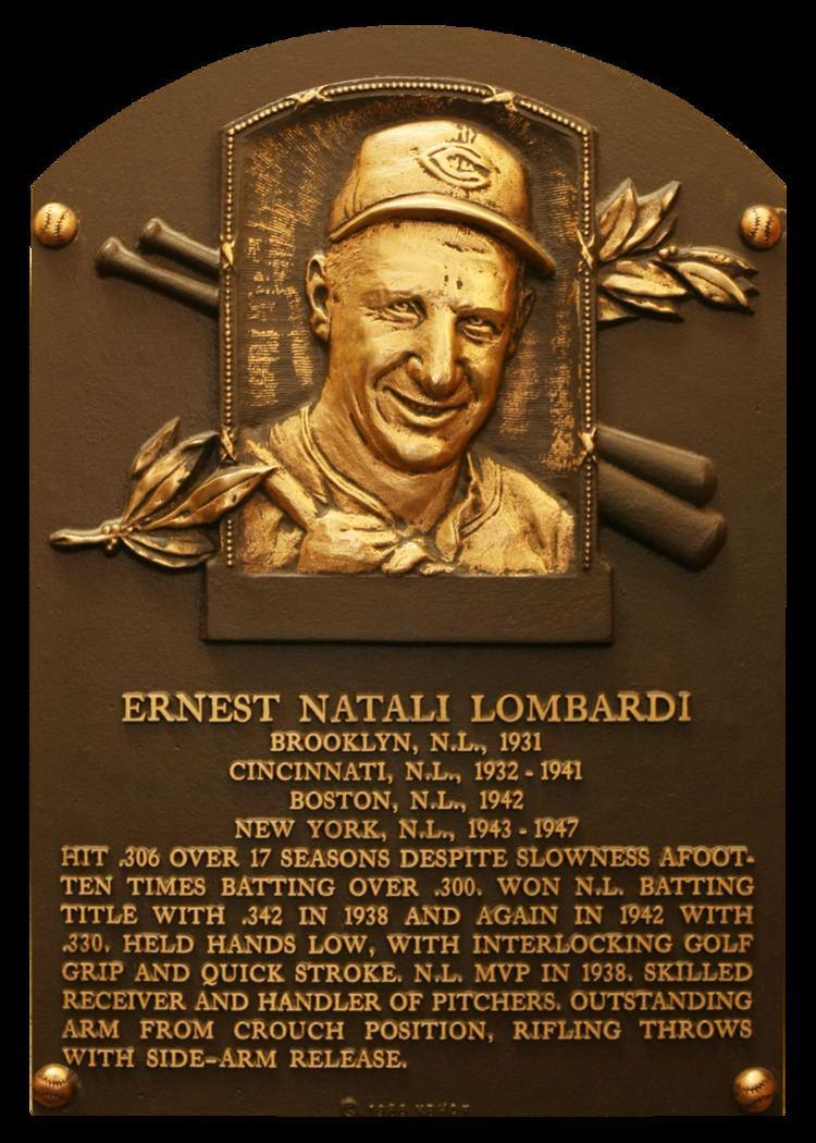 Ernie Lombardi Lombardi Ernie Baseball Hall of Fame