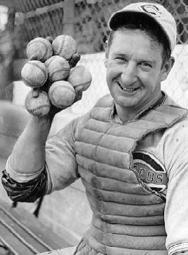 Ernie Lombardi Encyclopedia of Baseball Catchers Hall Of Fame Ernie Lombardi