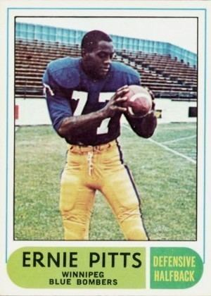 Ernie Pitts 1968 Ernie Pitts Winnipeg CFL Football Legends of the Fall