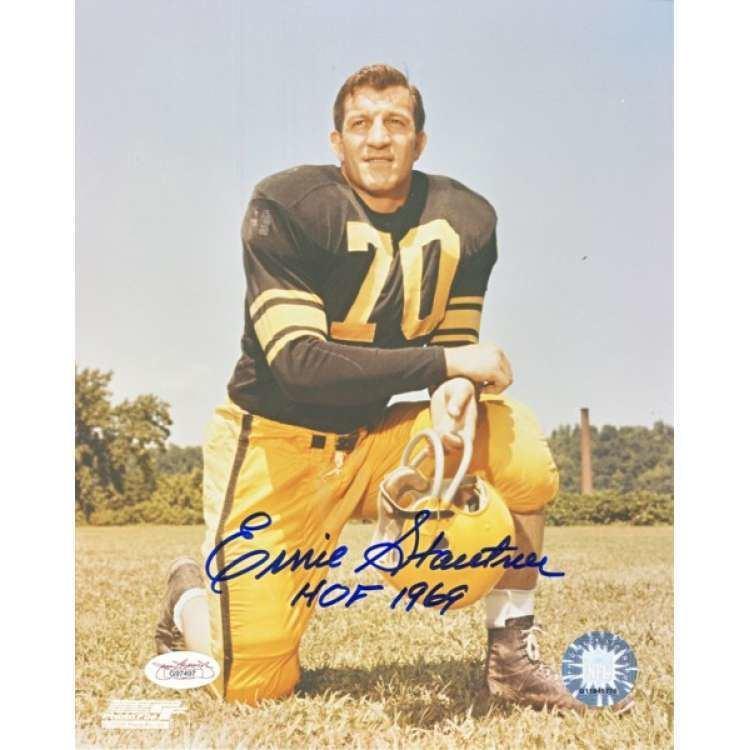 Ernie Stautner Ernie Stautner Autographed Steelers 8x10 Photo JSA COA