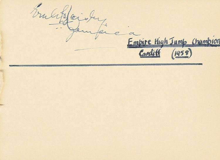 Ernle Haisley Ernle Haisley Jamaica Empire Games 1958 High Jump Myburgh