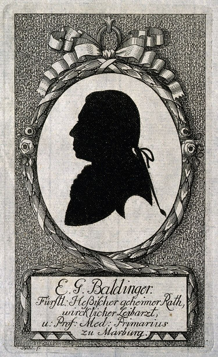 Ernst Gottfried Baldinger FileErnst Gottfried Baldinger Silhouette by Stahl Wellcome