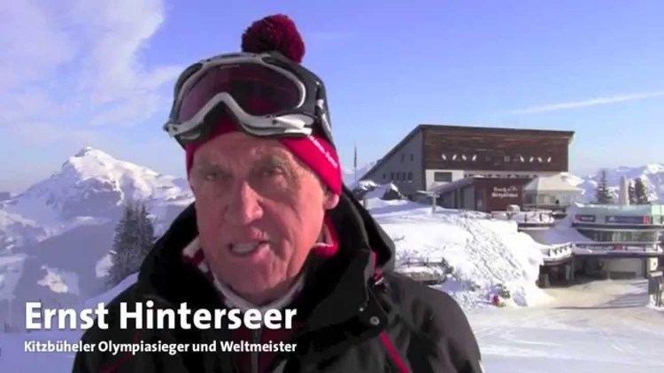 Ernst Hinterseer Die Asten Skiabfahrt am Hahnenkamm mit Olympiasieger Ernst