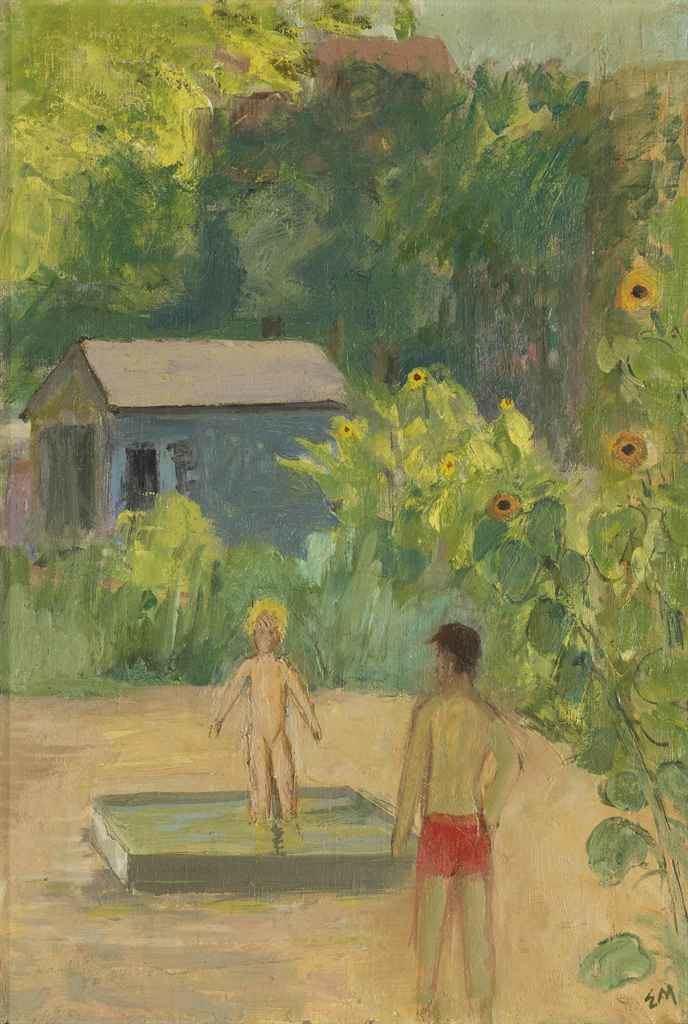 Ernst Morgenthaler ERNST MORGENTHALER 18871962 Im Garten um 1931 1930s