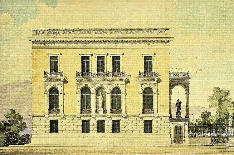 Ernst Ziller Athens Deligiorgis Mansion Ernst Ziller architect 1882