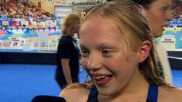 Erraid Davies Glasgow 2014 13yearold Erraid Davies wins swimming