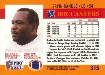 Ervin Randle 1990 Pro Set Football Gallery The Trading Card Database