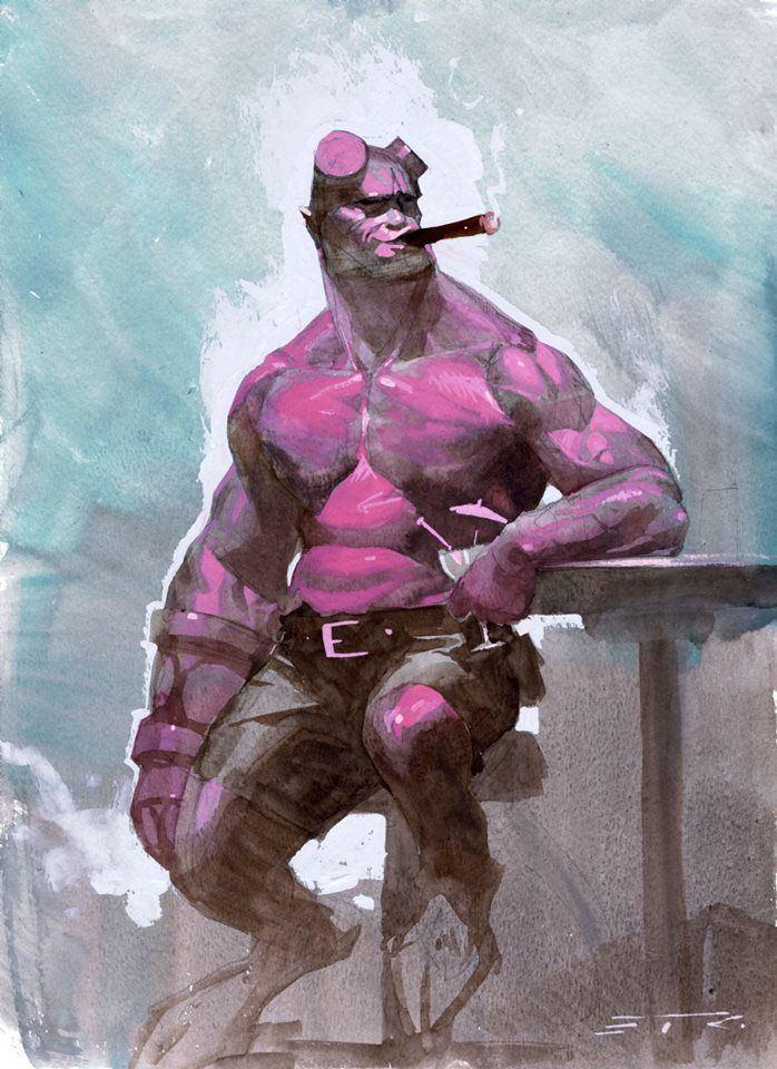 Esad Ribic Hellboy by Esad Ribic Esad Ribic Art Pinterest