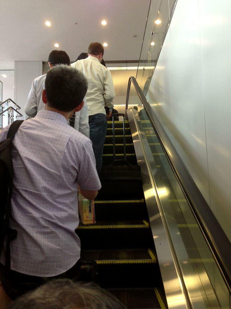Escalator etiquette
