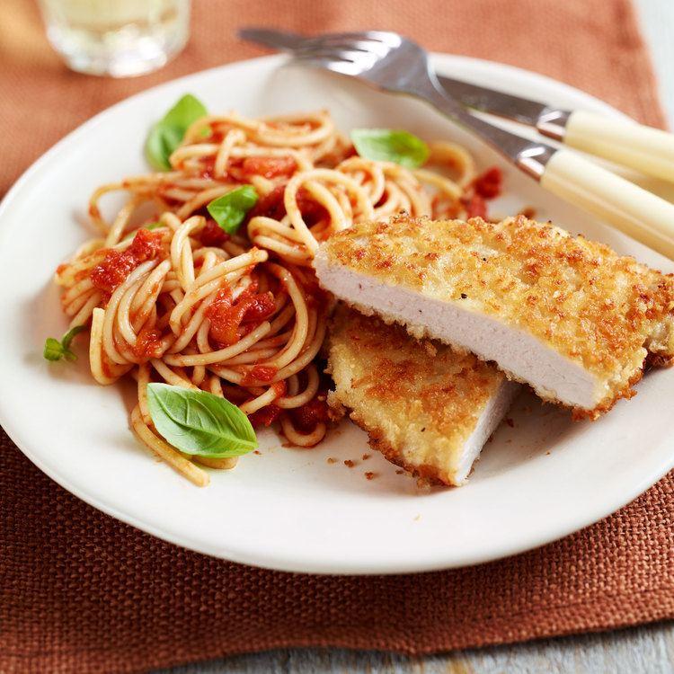 Escalope Pork Escalope with Spaghetti Woman And Home
