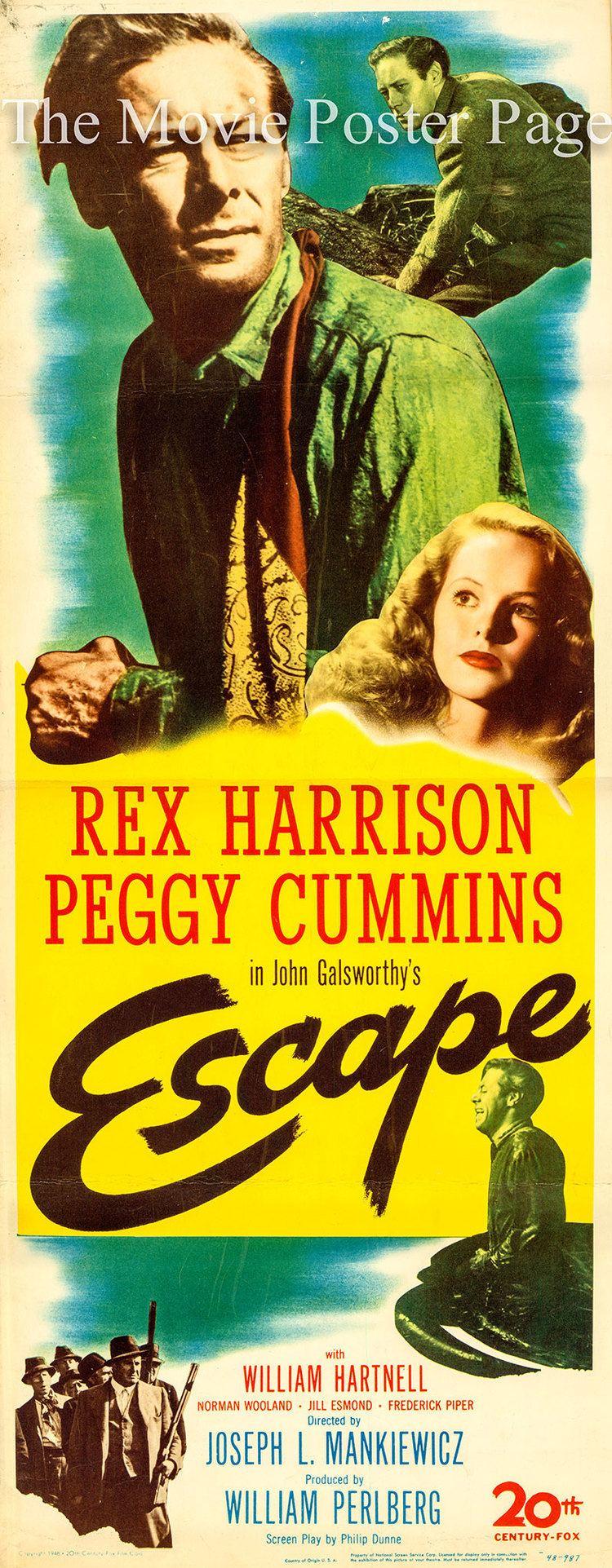 Escape (1948 film) Escape 1948 Rex Harrison US insert poster F NM 125
