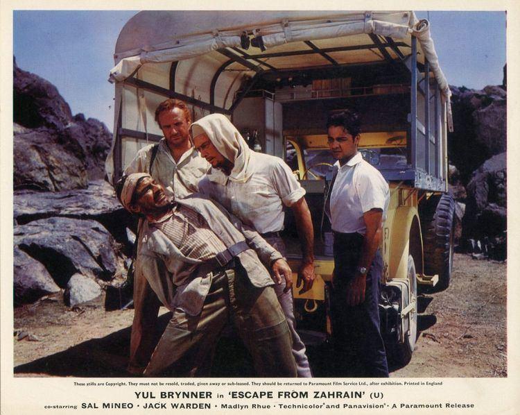 Escape from Zahrain Escape from Zahrain Ronald Neame director Michael Barrett novel