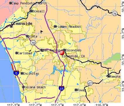 Escondido, California Escondido California CA profile population maps real estate