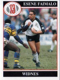 Esene Faimalo WIDNES Esene Faimalo 120 MERLIN Rugby League 1990 s Trading Card
