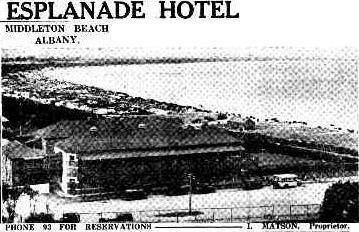 Esplanade Hotel, Albany