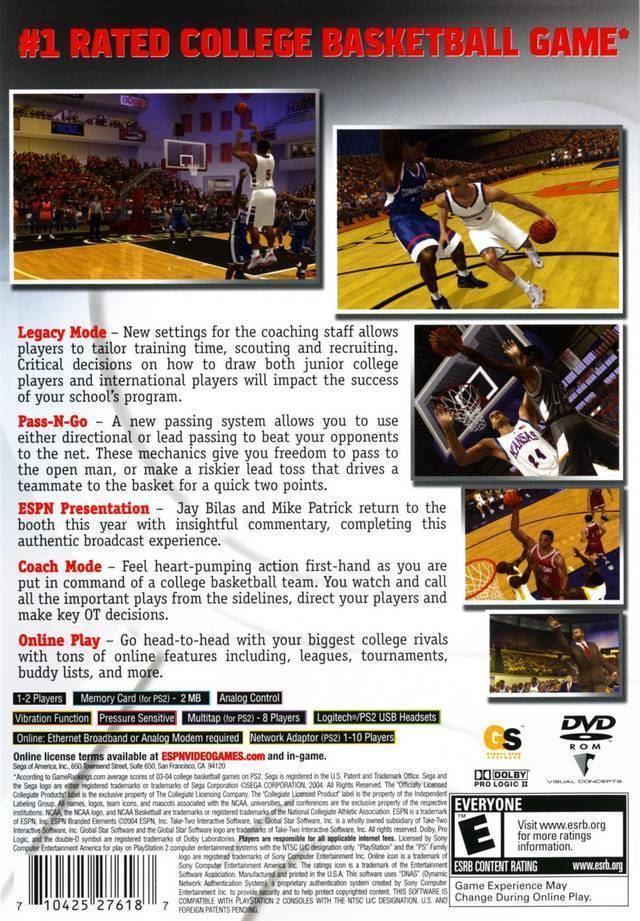 ESPN College Hoops 2K5 ESPN College Hoops 2K5 Box Shot for PlayStation 2 GameFAQs