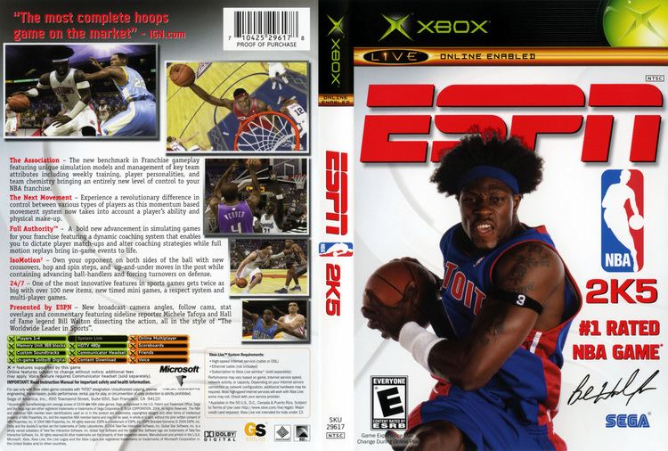 ESPN NBA 2K5 ESPN NBA 2K5 XBox Cover Scan HiRes 300dpi Babaimage