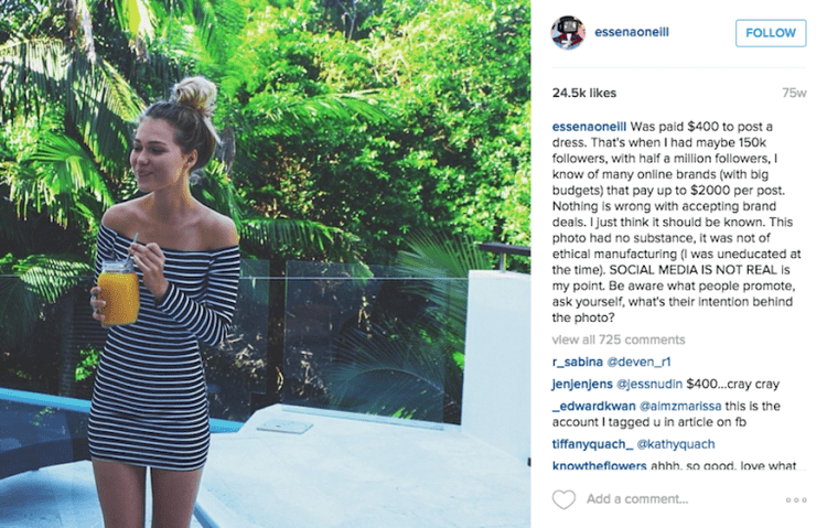Essena O'Neill Essena O39Neill Quitting Social Media Essena O39Neill Instagram Photos