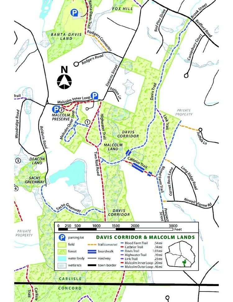 Estabrook Woods On the Land CR Properties with public access Estabrook Woods part