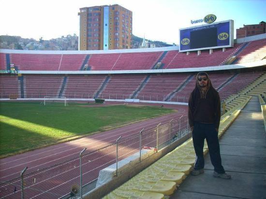 Estadio Hernando Siles Barra Brava del Club Bolvar Picture of Estadio Hernando Siles La
