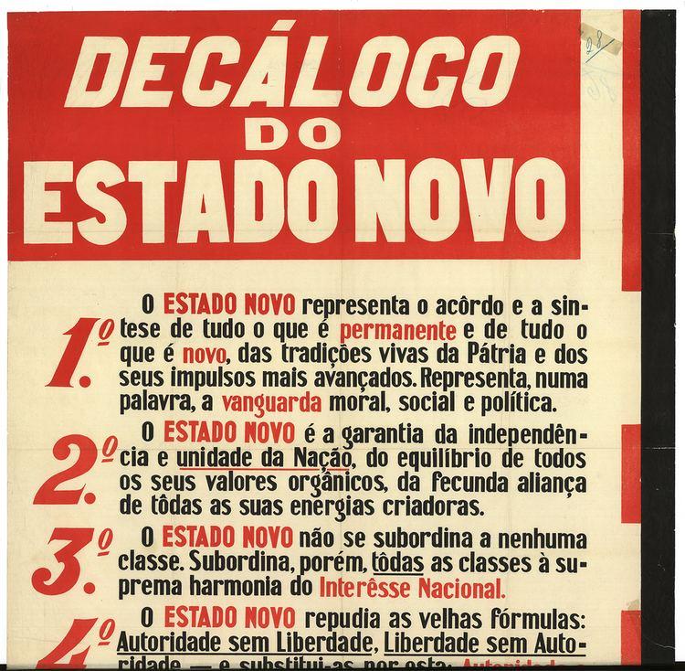 Estado Novo (Portugal) Declogo do Estado Novo 1934 Visualizing Portugal the New State