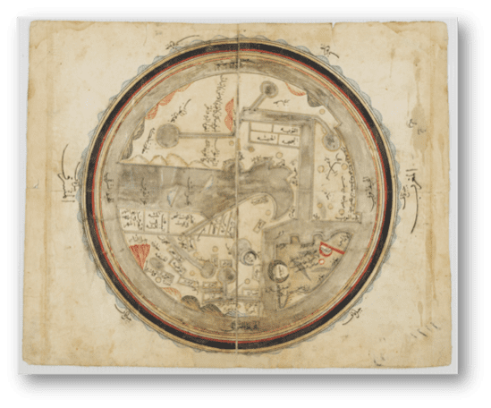 Istakhri 211 TITLE World Map of alIstakhri DATE 1193 AUTHOR Abu Ishaq