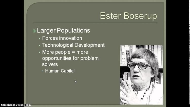 Ester Boserup Population Theories Part 2 YouTube