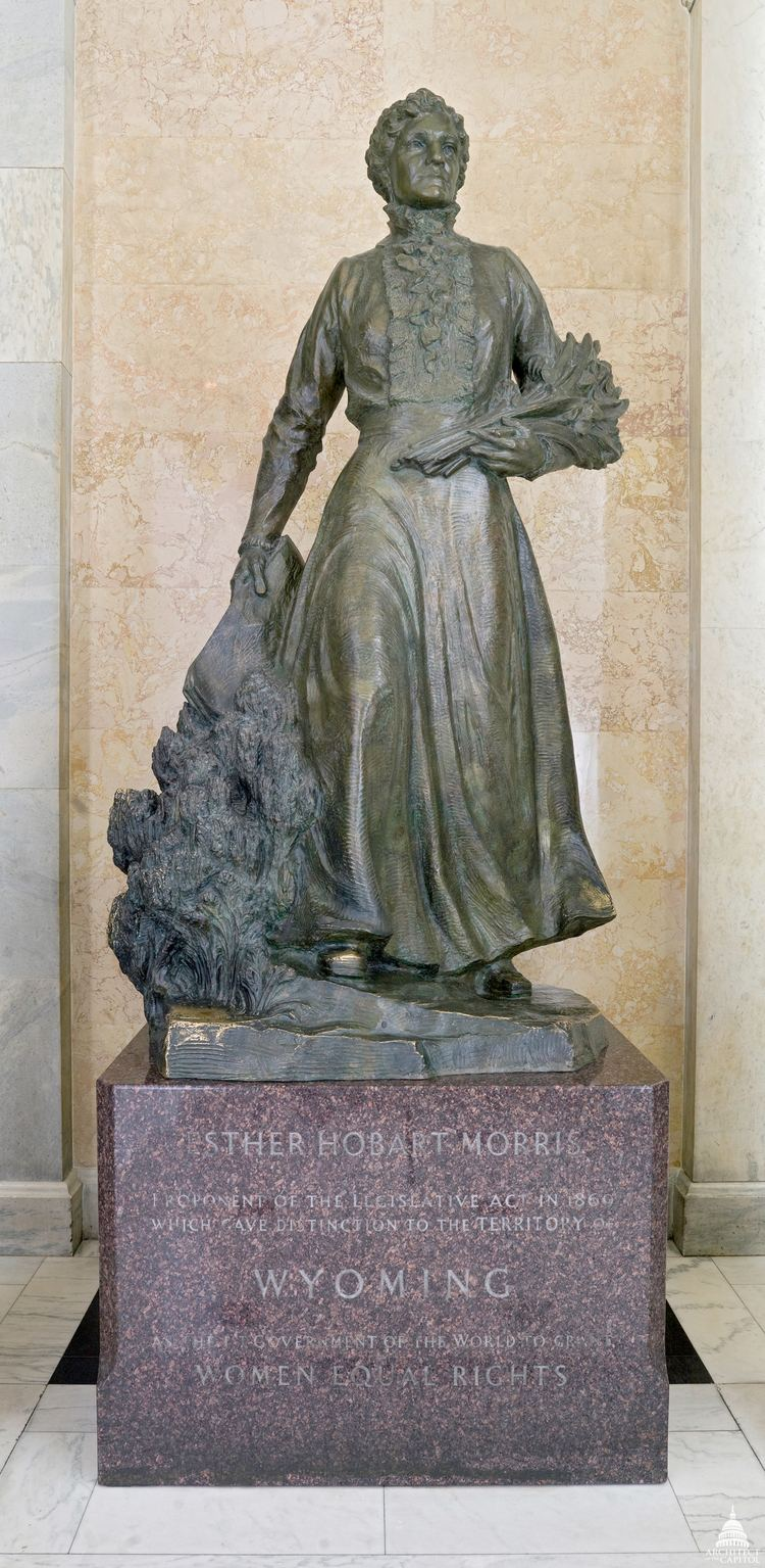 Esther Hobart Morris Esther Hobart Morris Architect of the Capitol United States Capitol