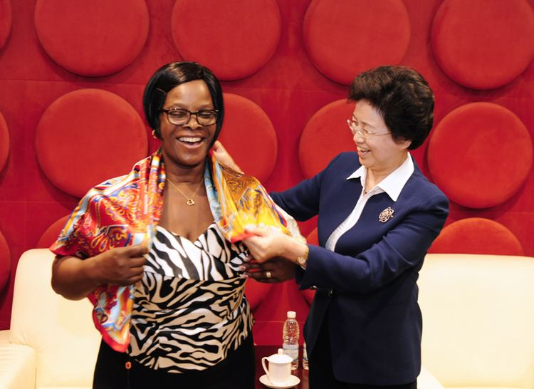 Esther Lungu Song Xiuyan Meets with First Lady of Zambia All China Women39s