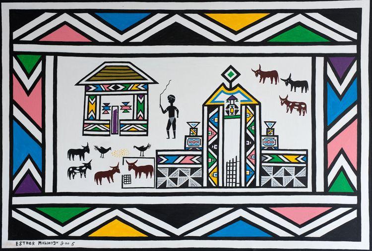 Esther Mahlangu 154 London39s first Contemporary African Art Fair FAD