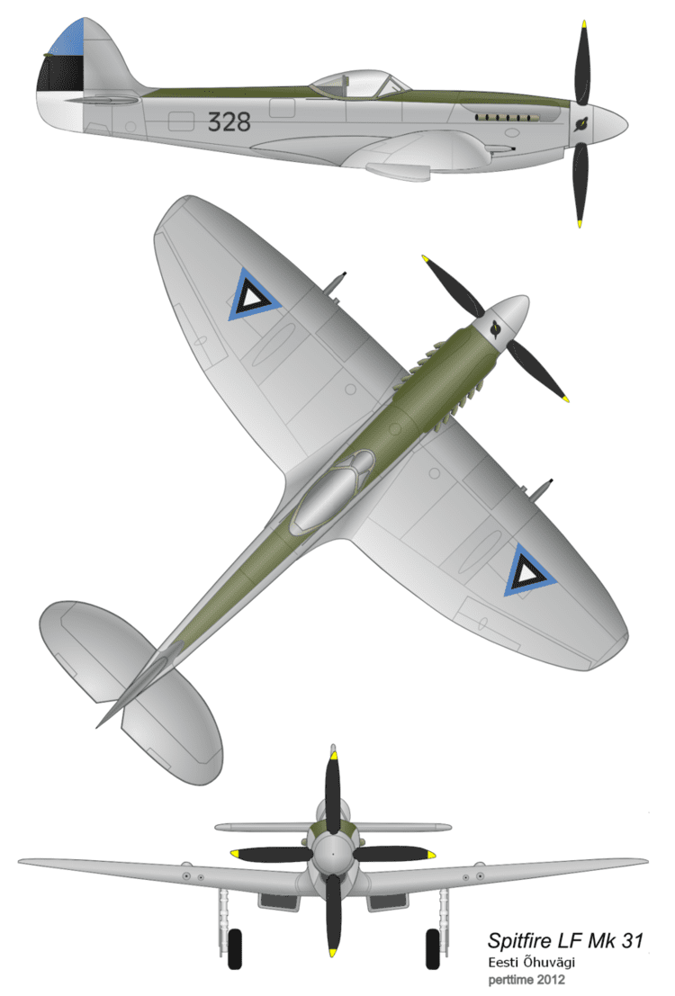 Estonian Air Force Spitfire LF Mk 31 Estonian Air Force by perttime on DeviantArt