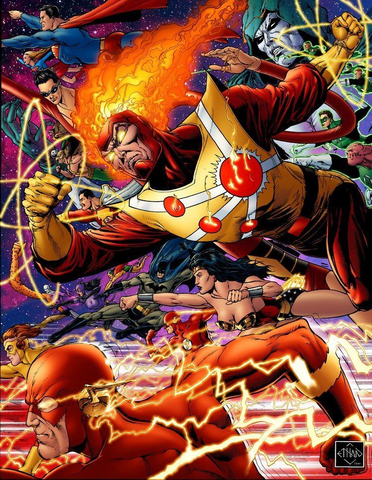 Ethan Van Sciver Ethan Van Sciver drawing of Firestorm and JLA Firestorm Fan