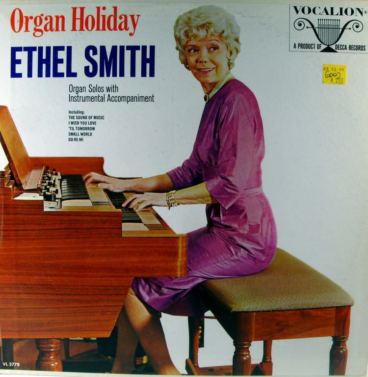 Ethel Smith (organist) - Alchetron, The Free Social Encyclopedia