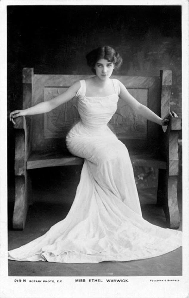 Ethel Warwick Miss Ethel Warwick Vintage Photography Edwardian era Vintage