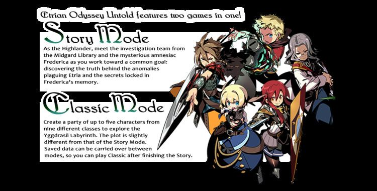 Etrian Odyssey (series) Now available for Nintendo 3DS Etrian Odyssey Untold The