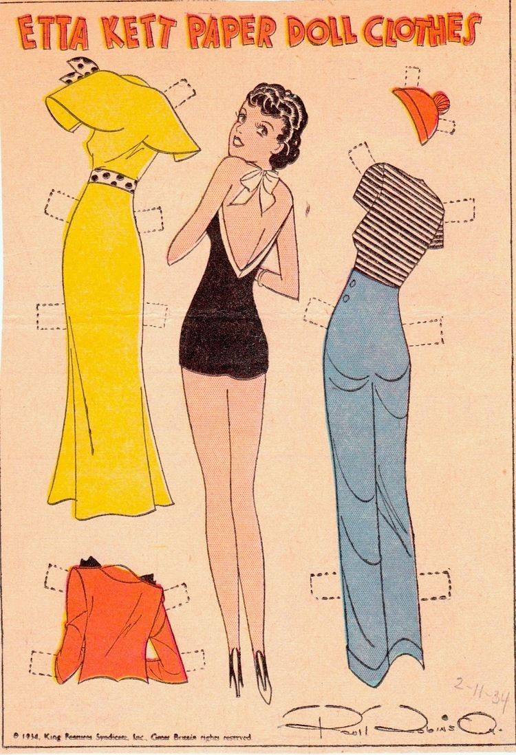 Etta Kett The Paper Collector Etta Kett Paper Doll Clothes Feb 1934