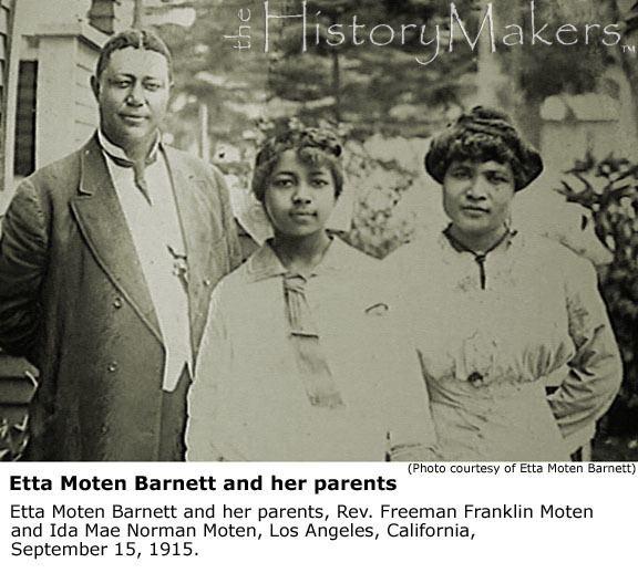 Etta Moten Barnett Etta Moten Barnett The HistoryMakers