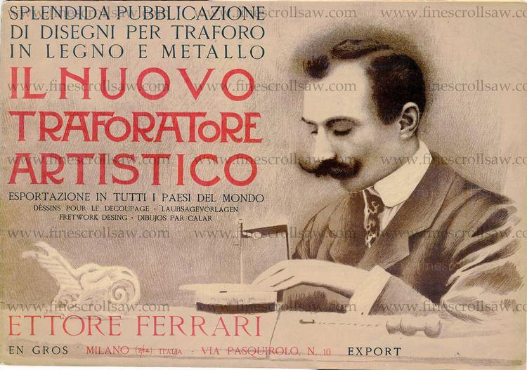Ettore Ferrari Ettore Ferrari39s catalogue of scroll saw fretwork designs