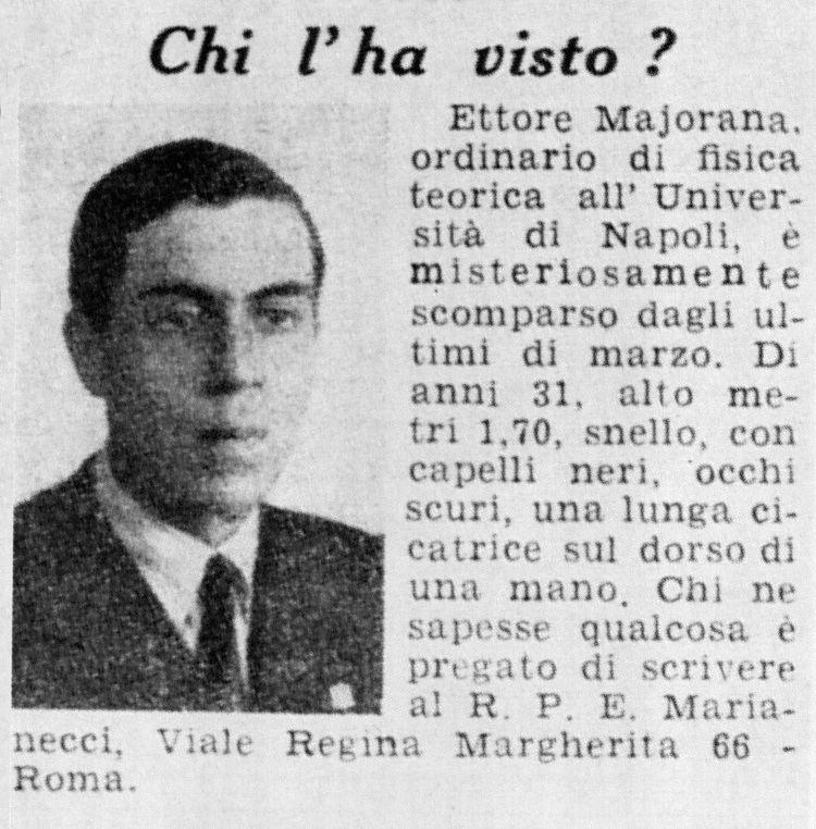 Ettore Majorana Ettore Majorana Wikipedia