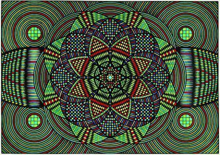 Eugene Andolsek Eugene Andolseks Kaleidoscopic Mandalas Raw Vision Magazine