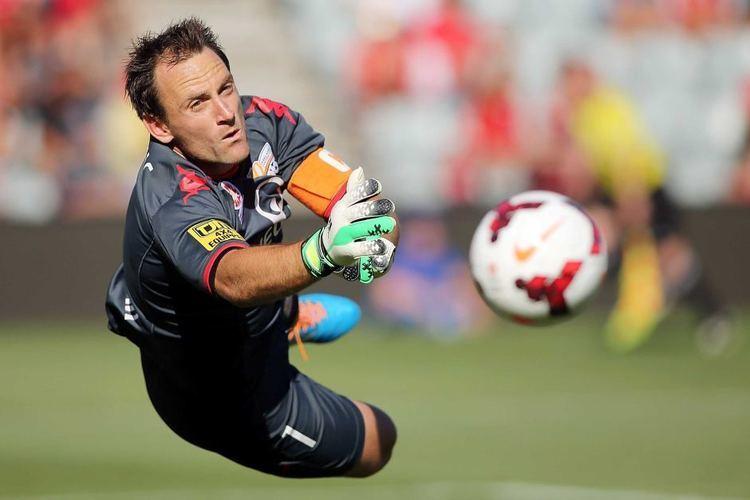 Eugene Galekovic Eugene Galekovic makes a save for Adelaide United ABC