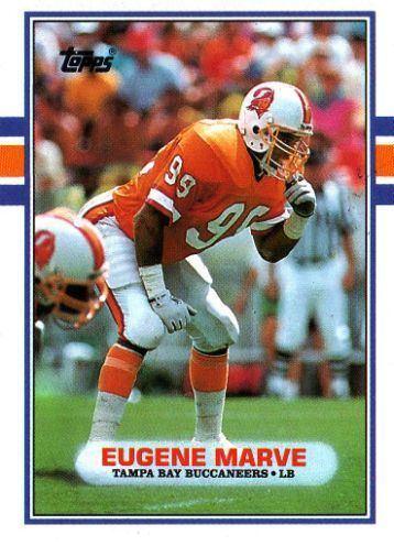 Eugene Marve TAMPA BAY BUCCANEERS Eugene Marve 335 TOPPS 1989 NFL American