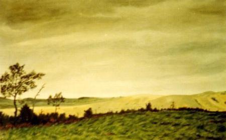 Eugenio Cruz Vargas Cordillera Landscapes of Eugenio Cruz Vargas Art of Chile
