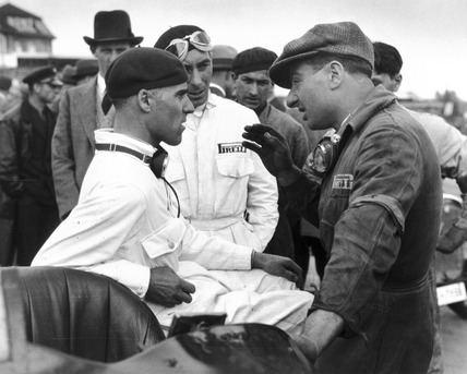 Eugenio Siena Tazio Nuvolari and Eugenio Siena Berlin 1933 by Glass Zoltan at