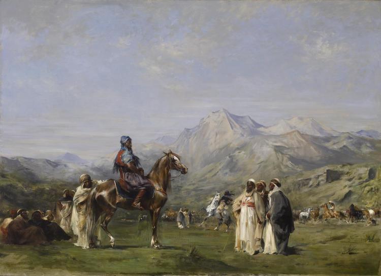 Eugène Fromentin FileEugne Fromentin An Encampment in the Atlas Mountains