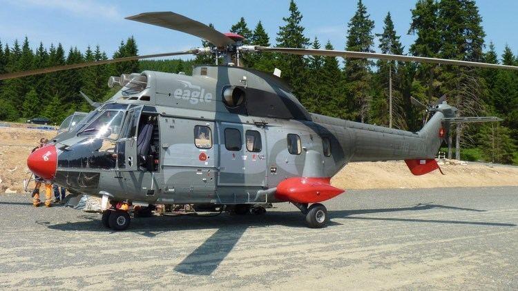 Eurocopter AS332 Super Puma Eurocopter AS332 Super Puma SesselliftMontage am Wurmberg YouTube