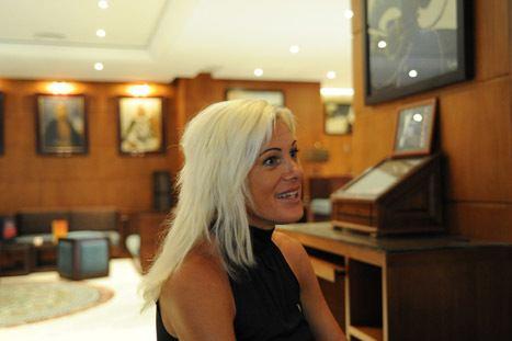 Eva-Maria Gradwohl Eva Maria Gradwohl trotseert de hitte in de Casablanca