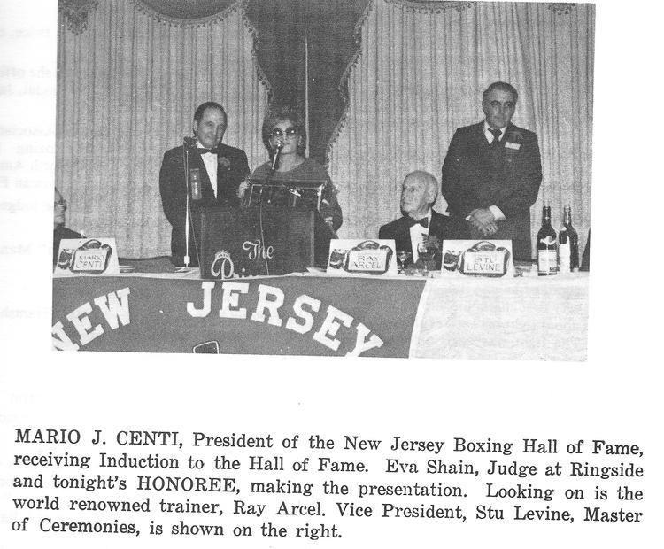 Eva Shain EVA SHAIN New Jersey Boxing Hall of Fame