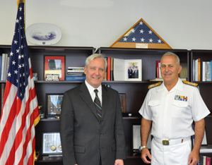 Evangelos Apostolakis US Ambassador meets with Chief of the Hellenic Navy US Embassy